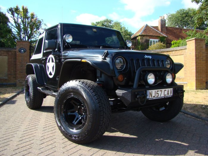 Jeep Wrangler WRANGLER 3.8 V6 Four Wheel Drive Petrol Black