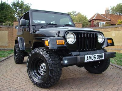 Jeep Wrangler 4.0 Sport 2dr Convertible Petrol BlackJeep Wrangler 4.0 Sport 2dr Convertible Petrol Black at Claridges Cars Leighton Buzzard
